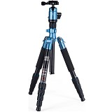 FOTOPRO Travelling Tripod with Ball Head [X4iE+42Q] - Blue - Tripod Combo with Head